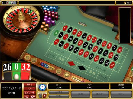 ルーレットテーブルゲームイメージ画像