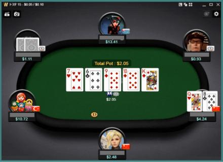 テキサスホールデムポーカーゲームイメージ画像